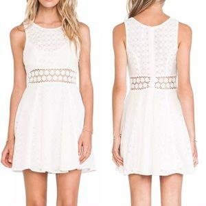 Free People White Daisy Mini Dress
